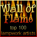 Wall of Flame Top 100 Lampwork Artists